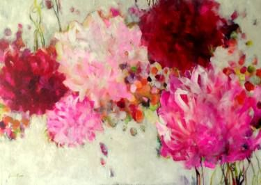 """Saatchi Art Artist Kornelia Weingarten; Painting, """"So leuchtend üppig / fand sich der Frühling ein / die Bauernrosen"""" #art"""