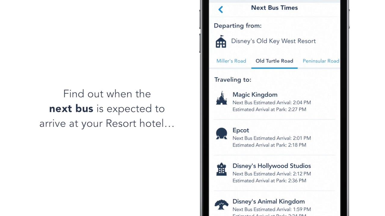 Bus Times at Walt Disney World Resort Now Available in