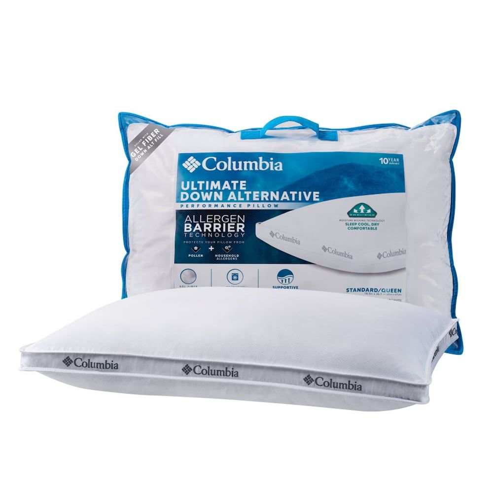 Columbia Down Alternative Allergen Barrier Pillow White