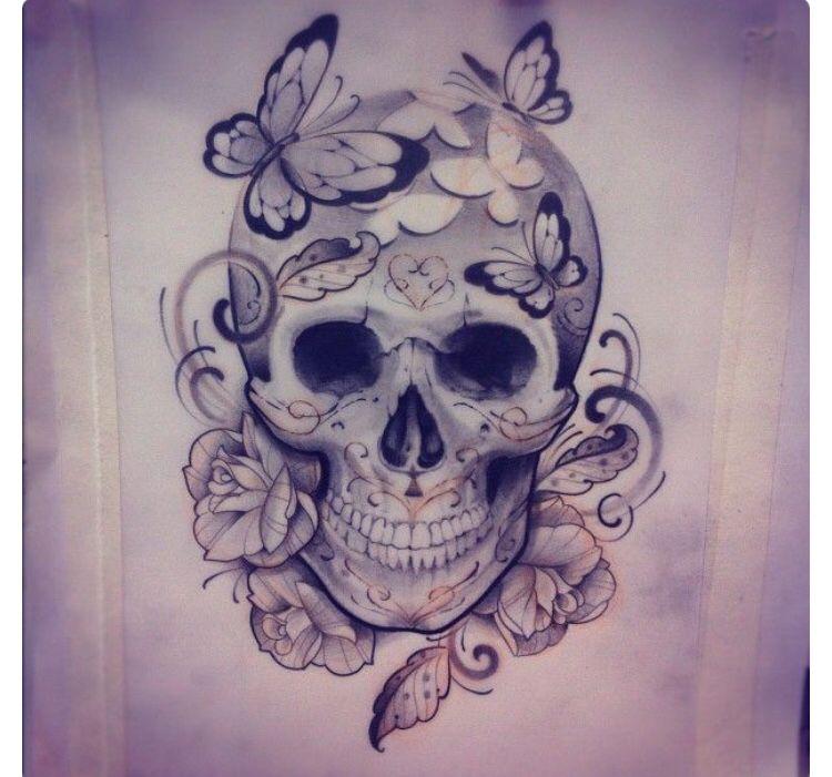 Dessin Crane Papillons Feminine Skull Tattoos Skull Tattoos