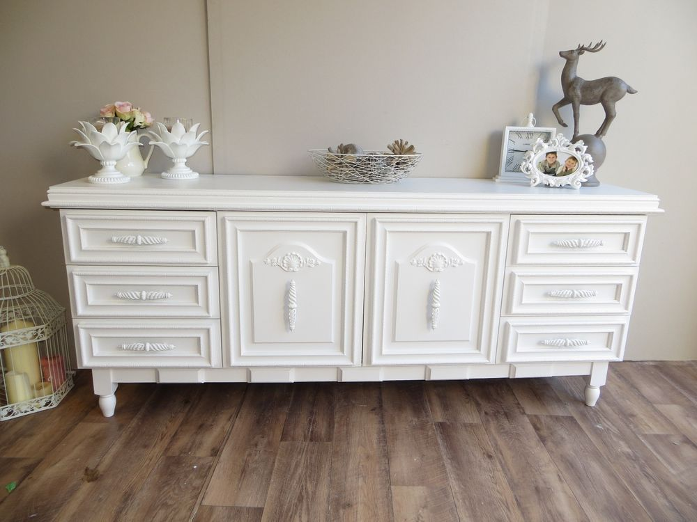 Off White French Provincial Style Sideboard TV Unit Lowboy
