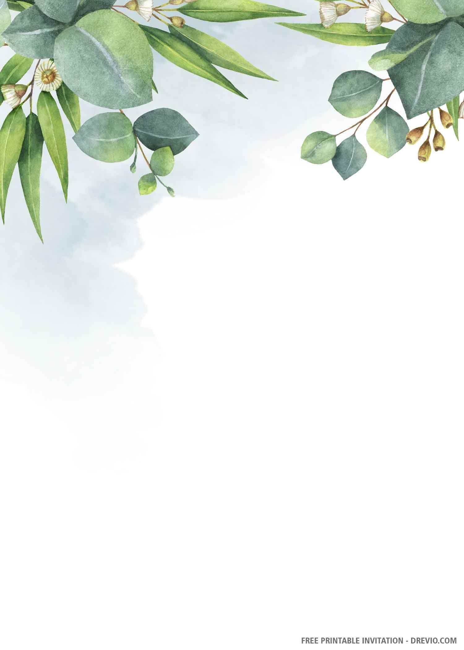Free Printable Greenery Wedding Invitation Templates Drevio In 2020 Greenery Wedding Invitations Wedding Invitation Templates Free Printable Wedding Invitation Templates
