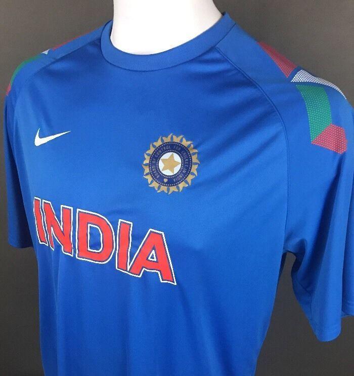 Vintage Nike Fit Dry India Sahara Cricket Jersey Shirt Board Of Control 2xl A98 Vintage Nike Shirts Shirt Board