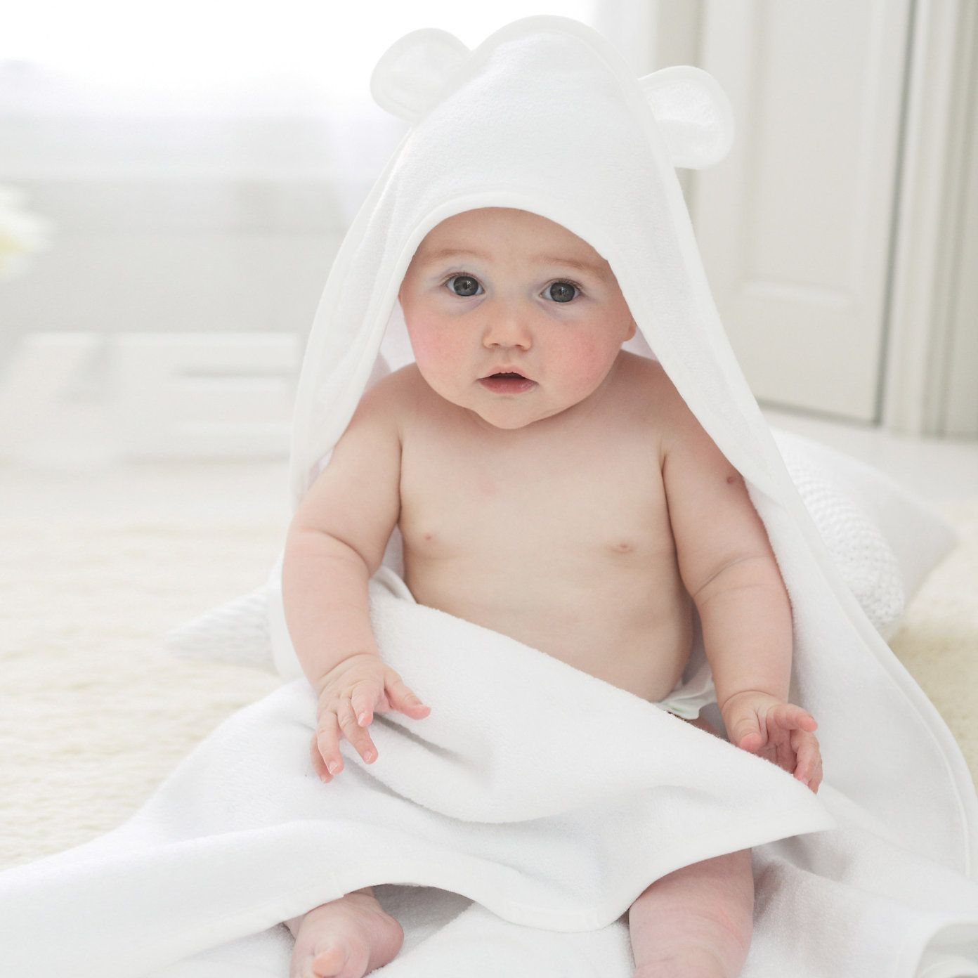 Buy Baby > Baby Accessories > Teddy Ears Hydrocotton Hooded Towel ...