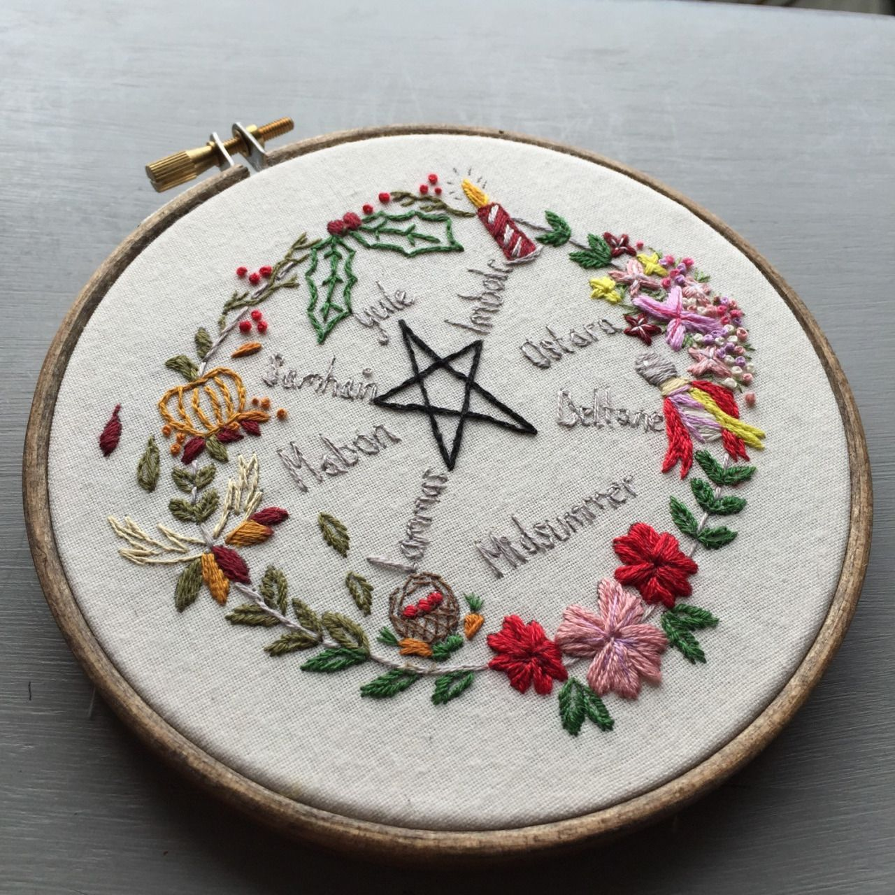 Witch aesthetic embroidery