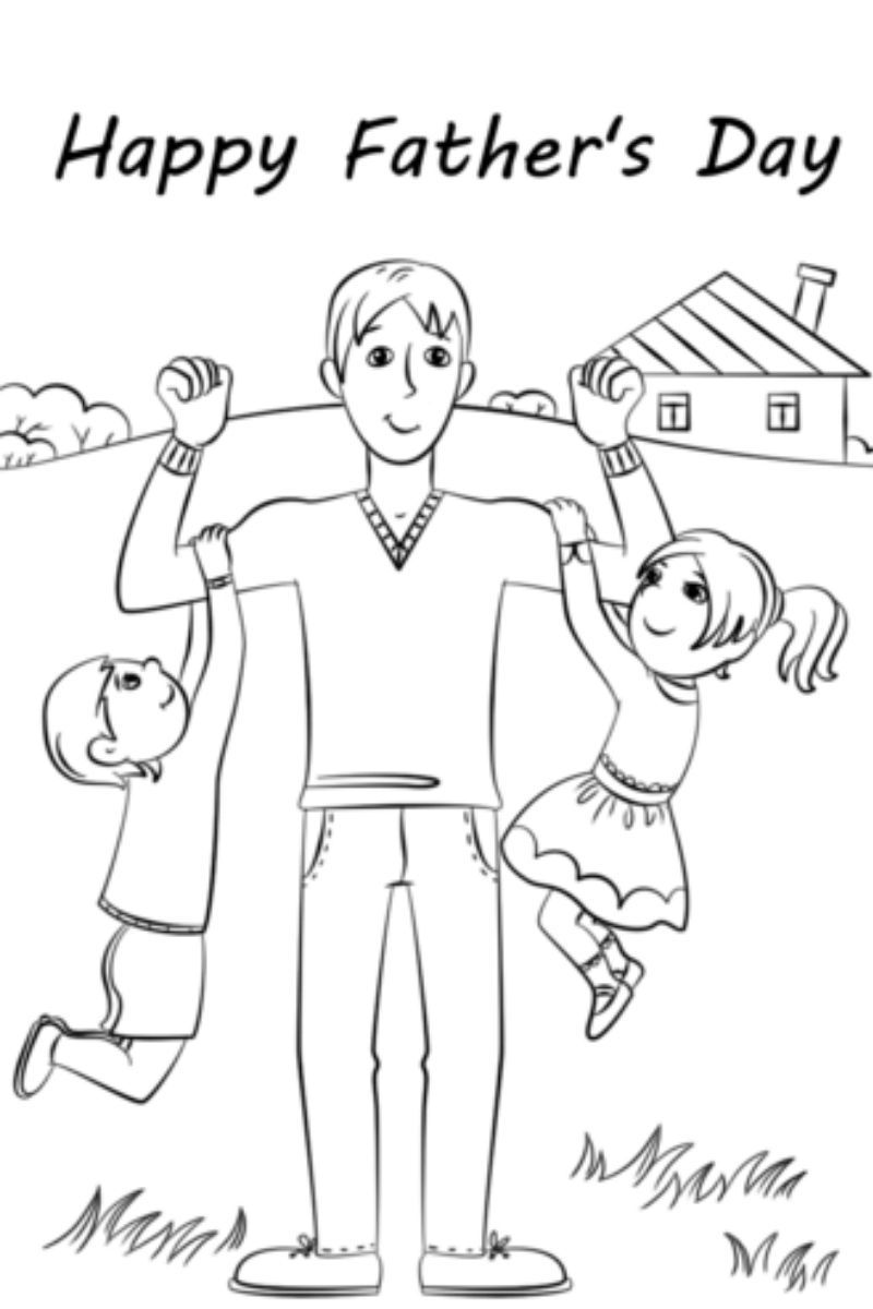 47+ Fathers day 2021 coloring page download HD
