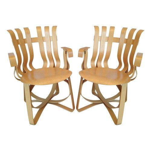 Pair of Hat Trick Armchairs by Frank Gehry for Knoll Studios  $2500.00