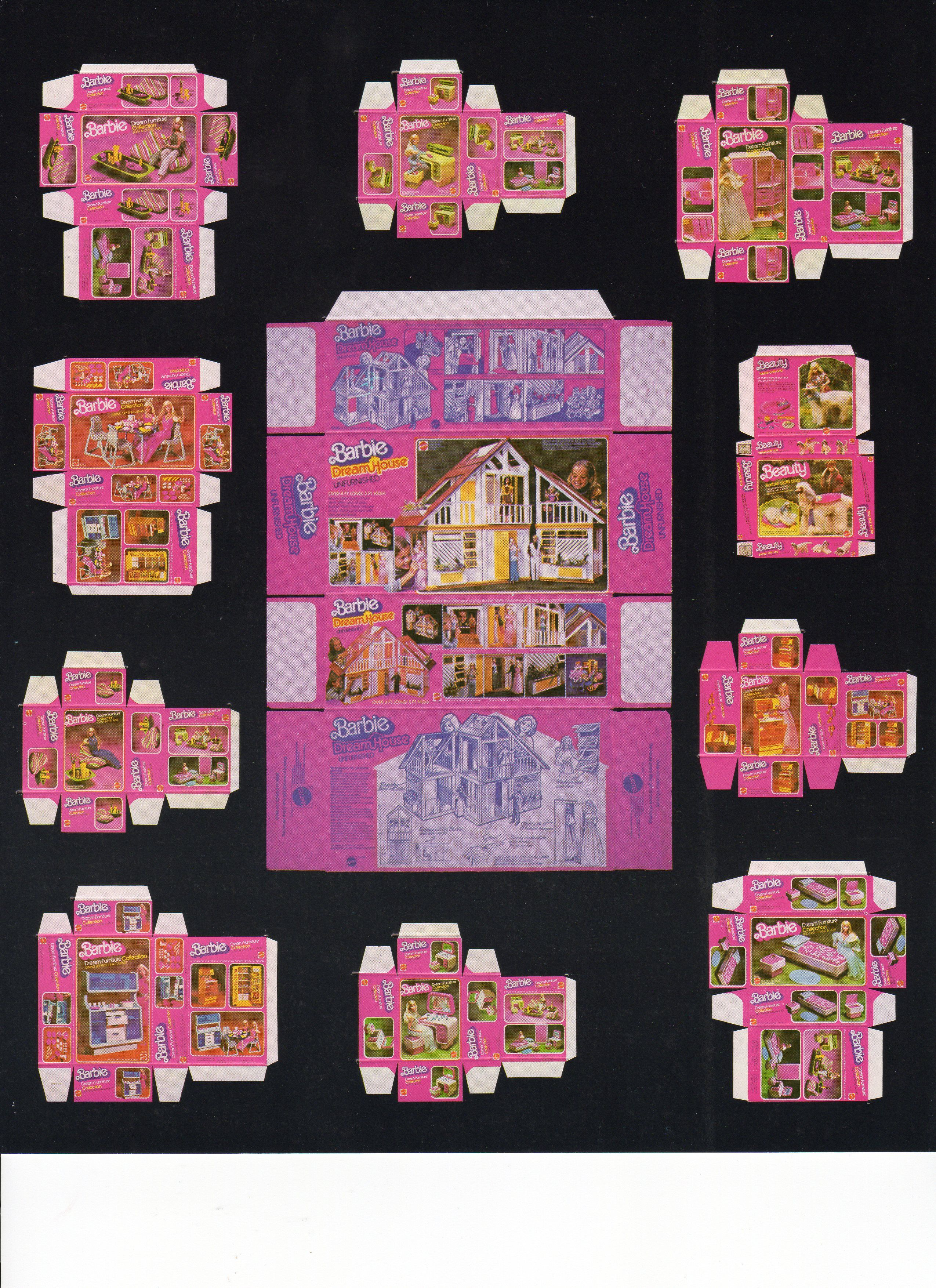Vintage Barbie Boxes Printable For Doll S House Inspired