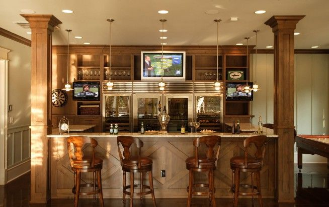 Long Narrow Basement Design Ideas Kitchen Bars Design And