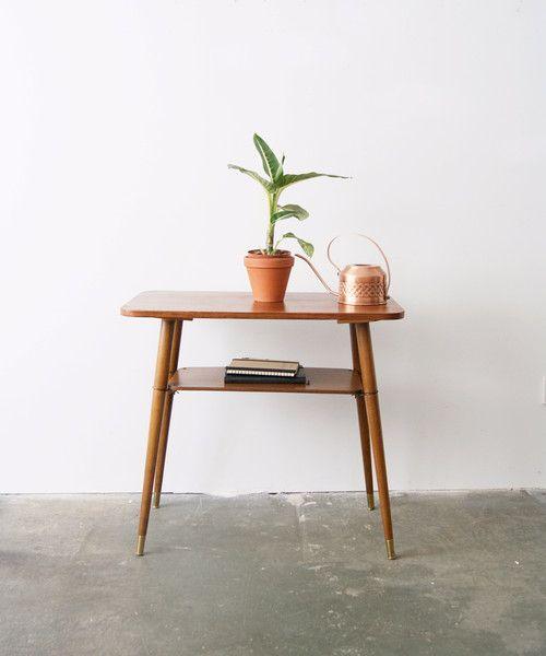 Vintage Tische 50s Beistelltisch Kleiner Tisch Holz