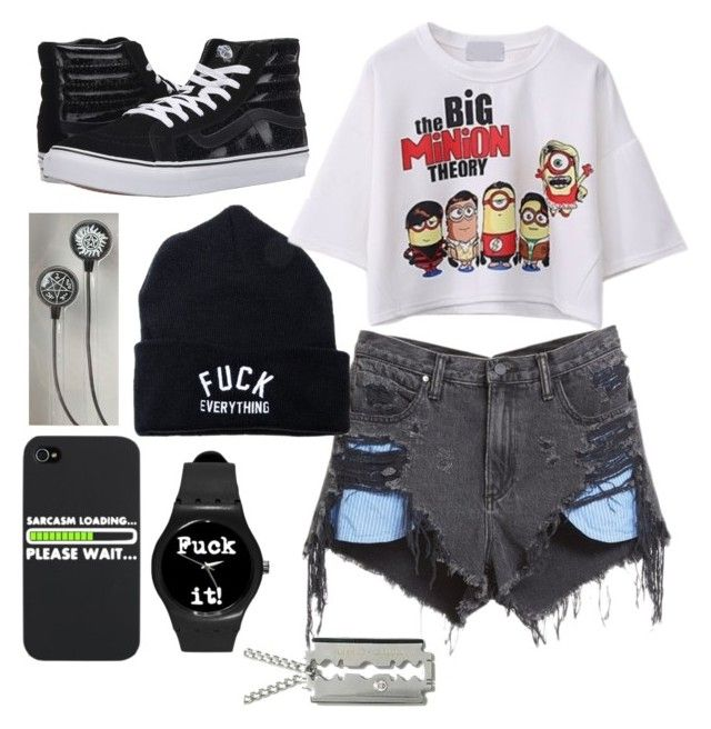 Untitled #876 by laurenwolfchild on Polyvore featuring mode, WithChic, Alexander Wang and Vans