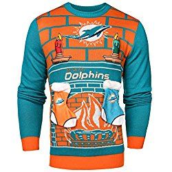 Nfl Miami Dolphins Ugly 3d Sweater X Large Birthdays Pinterest