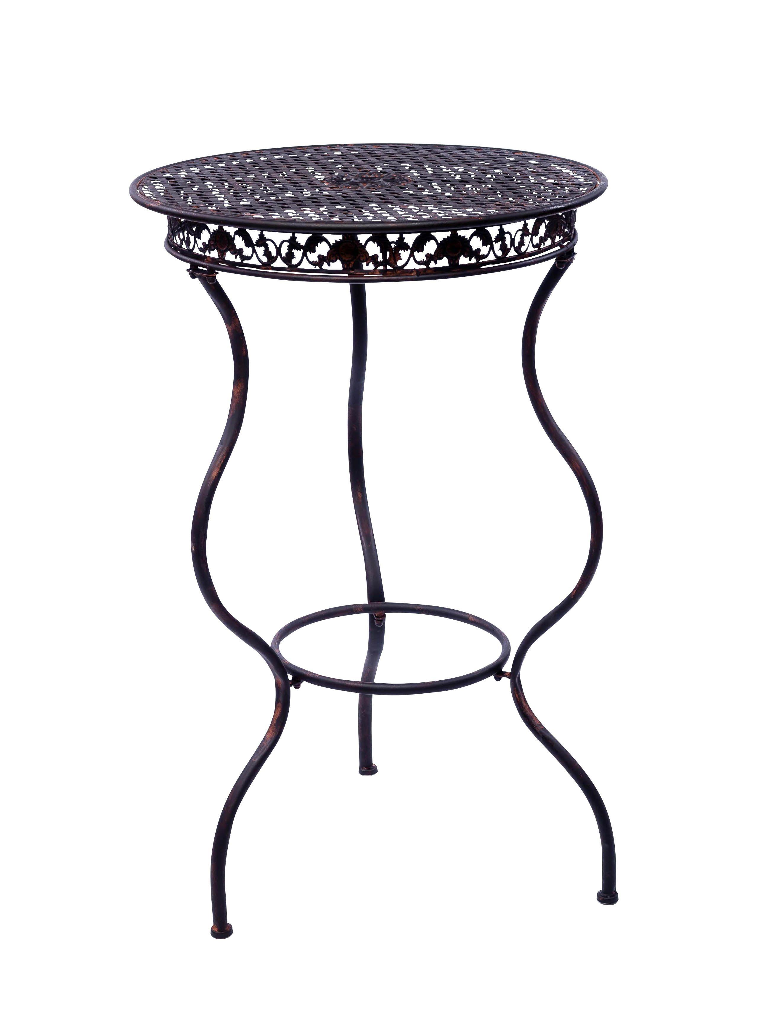 Wunderschöner Gartentisch in schwarz aus Eisen im Antik-Stil ...