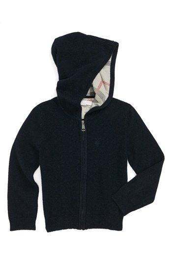 83483c66f6e9 Burberry Hooded Cashmere Sweater (Baby Boys) available at  Nordstrom ...