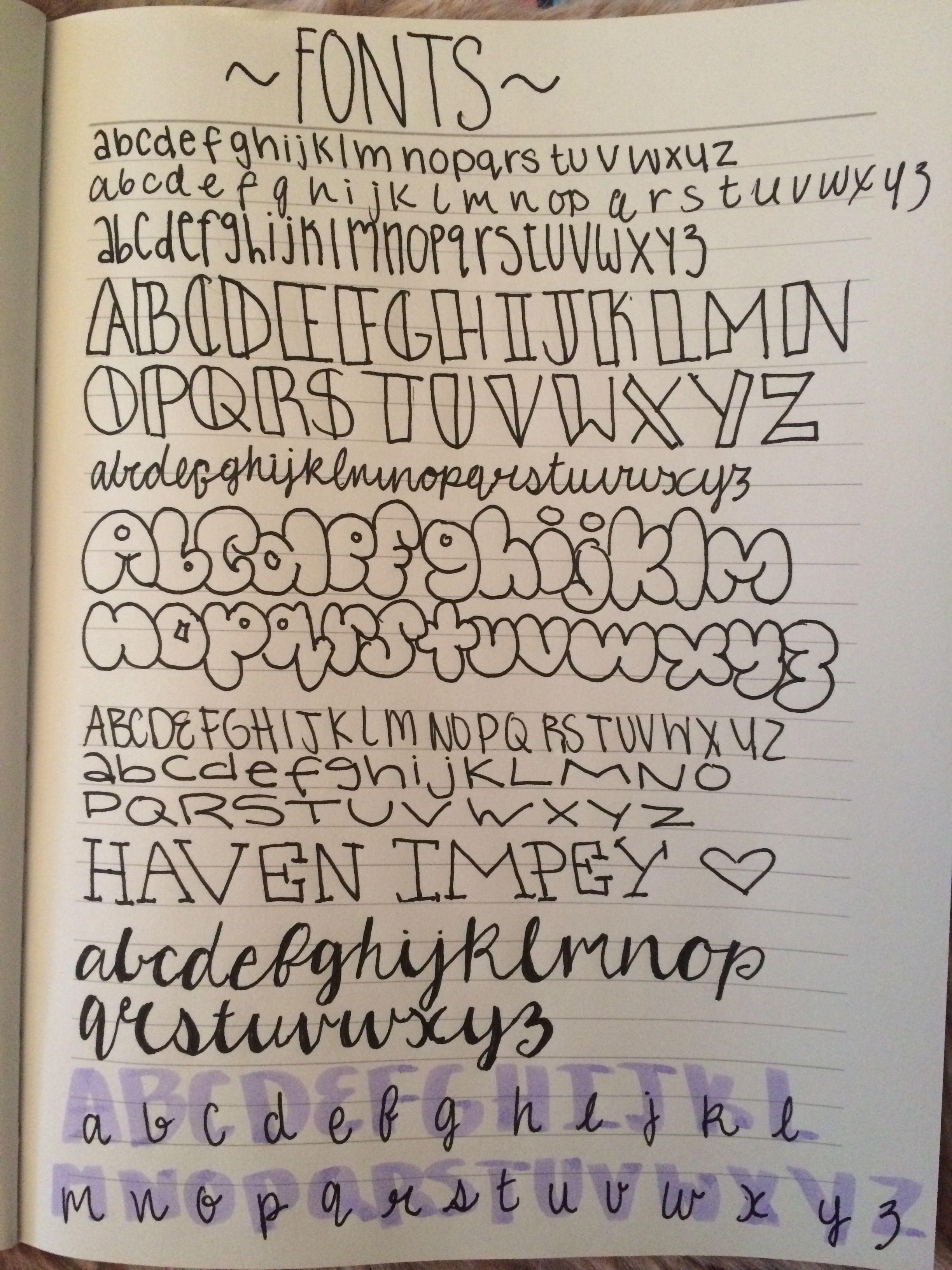 Doodle Bullet Journal Calligraphy Fonts Cuadernos Bullet