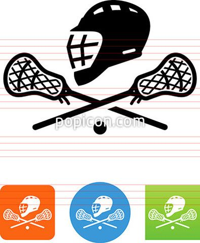 Lacrosse Helmet And Sticks Icon Lacrosse Icon Sport Icon
