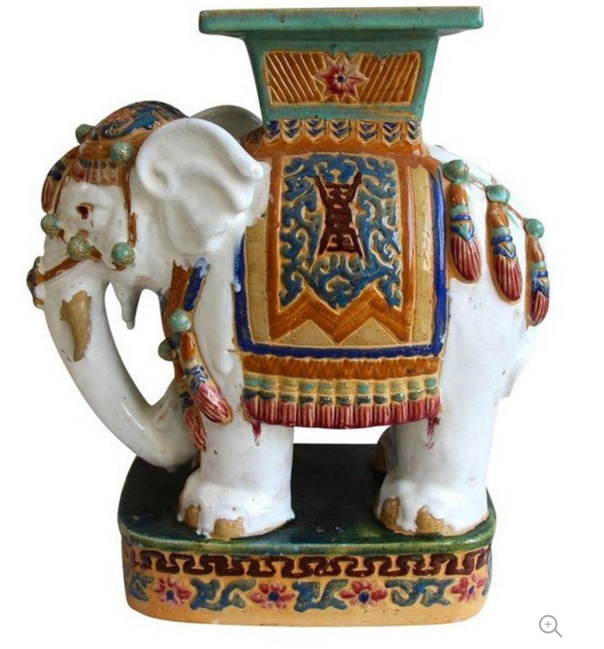 Vietnamese terra cotta elephant garden stool   Work Stuff ...