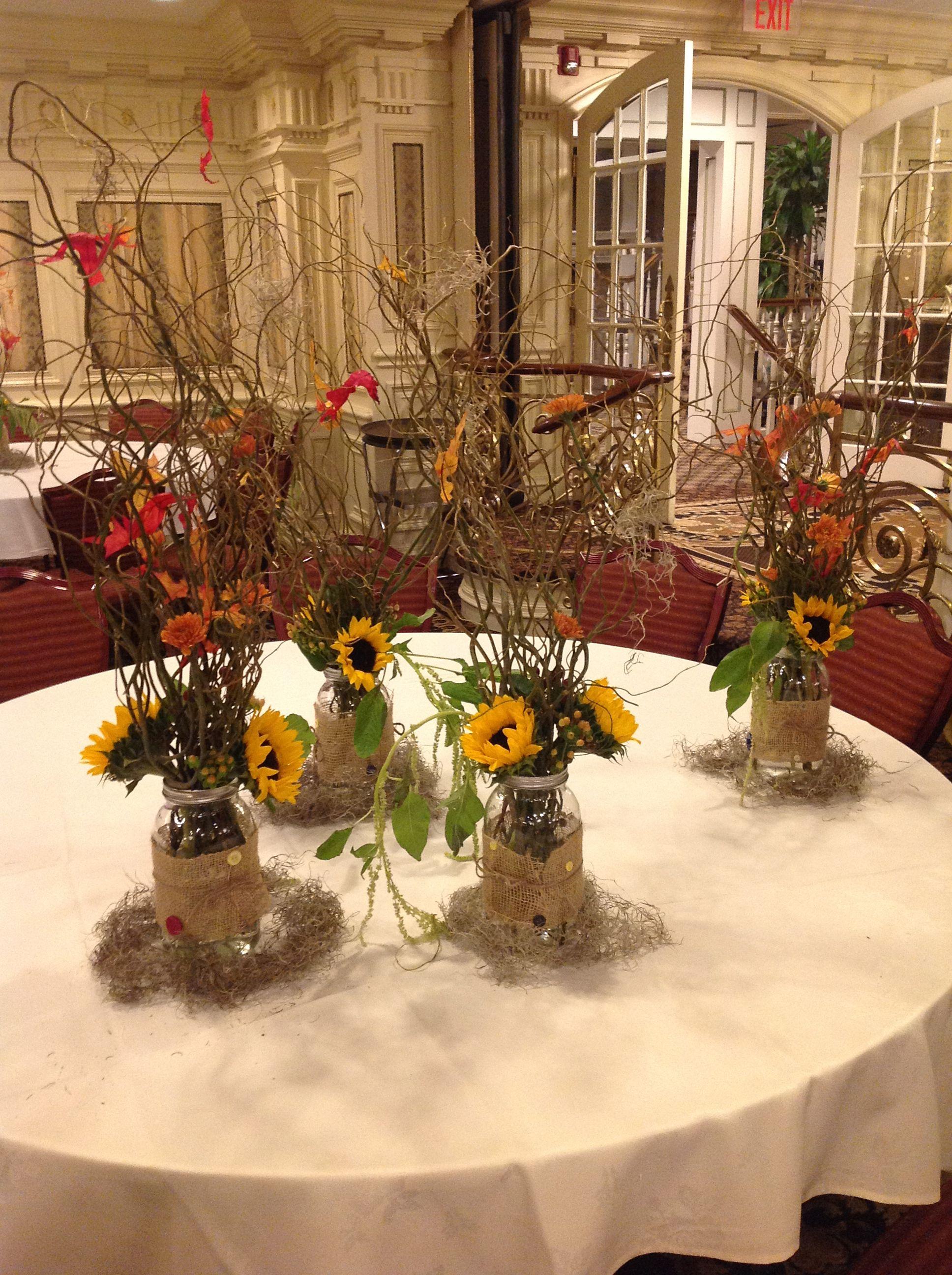 Sunflower fall wedding centerpieces wedding Ideas