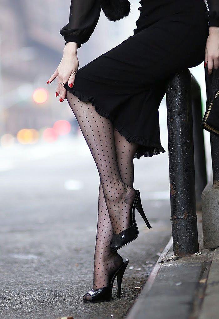 af11bfc9c Rachel Jensen wearing nylon stockings from Secret In Lace.