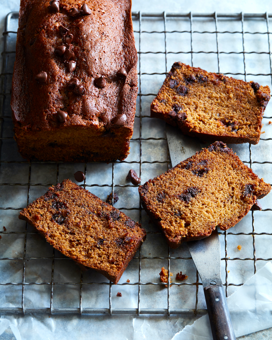 Chocolate Chip Pumpkin Bread What S Gaby Cooking