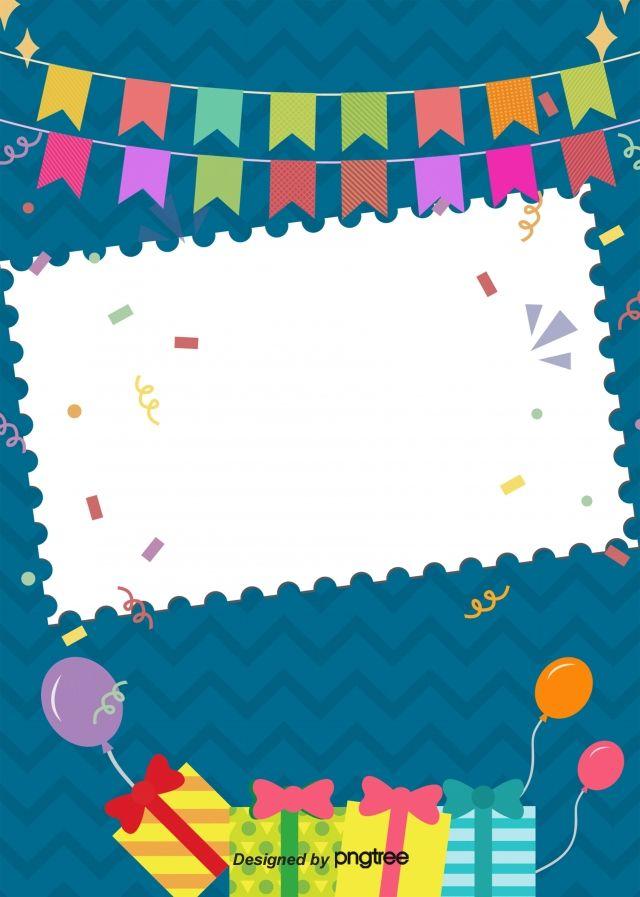 خلفية الكرتون لطيف عيد ميلاد سعيد ملصق Happy Birthday Frame Happy Birthday Posters Happy Birthday Greetings