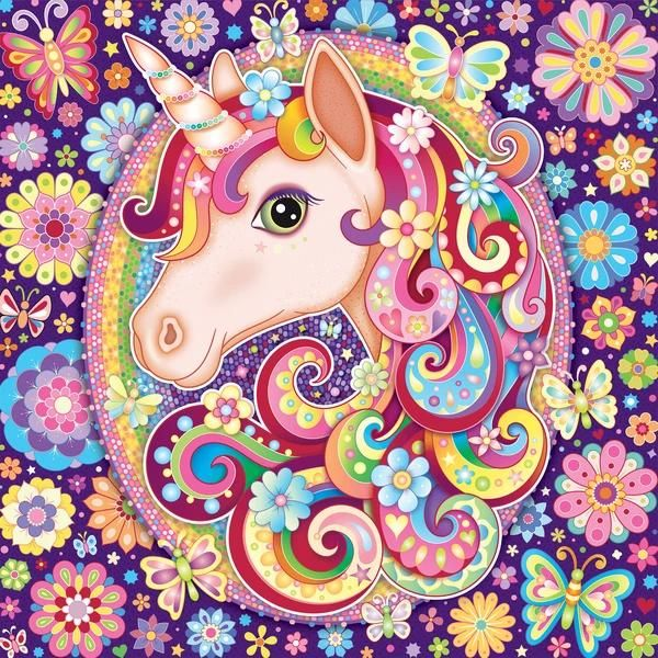 Photo of Ceaco Groovy Animals Unicorn Puzzle. Art by Thaneeya McArdle.  #2922-4. New.