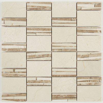 Itona Tile Harrison Marble Mosaic Tile Color Crema Marfil