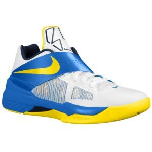 628edebb094a Nike Zoom KD IV - Men s - Basketball - Shoes - White Photo Blue Midnight  Navy Tour Yellow