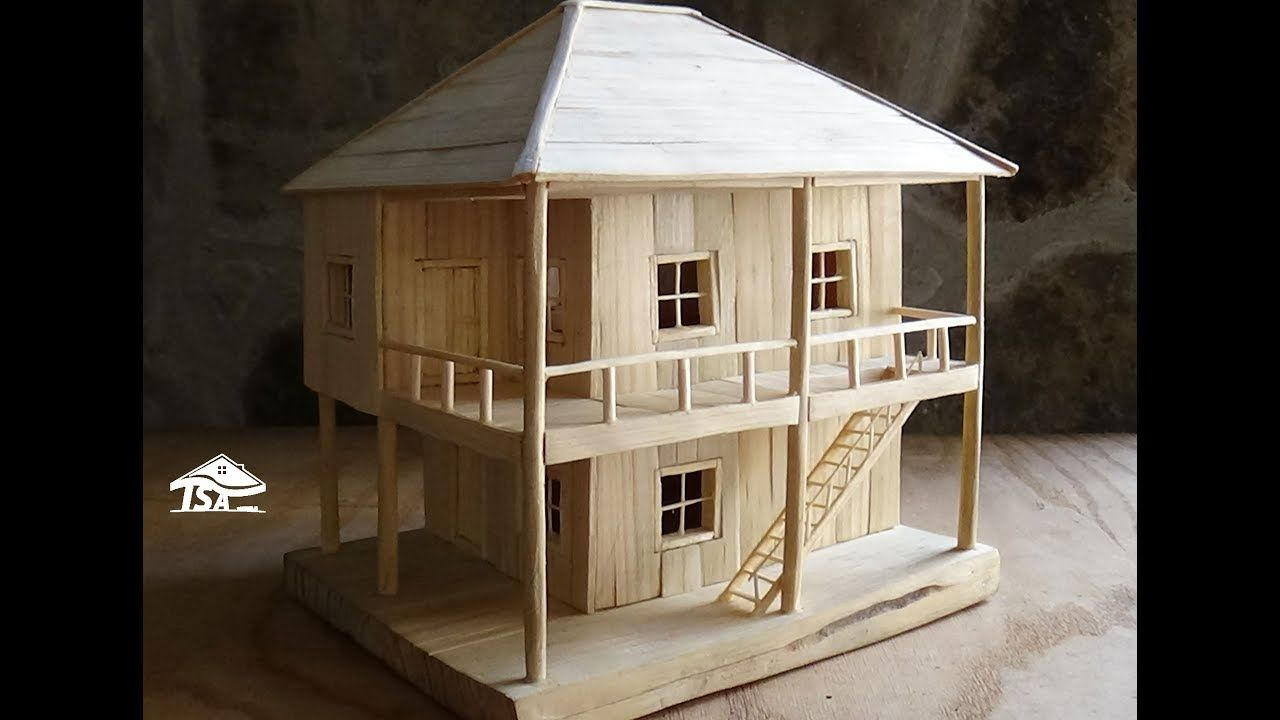 How To Make A Wooden Model House Model Homes Miniature Houses