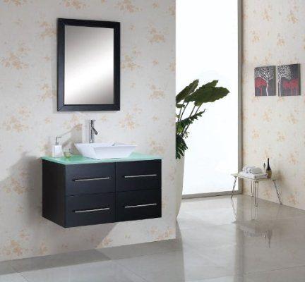 Virtu USA MS 565 G ES Marsala 35 Inch Bathroom Vanity With