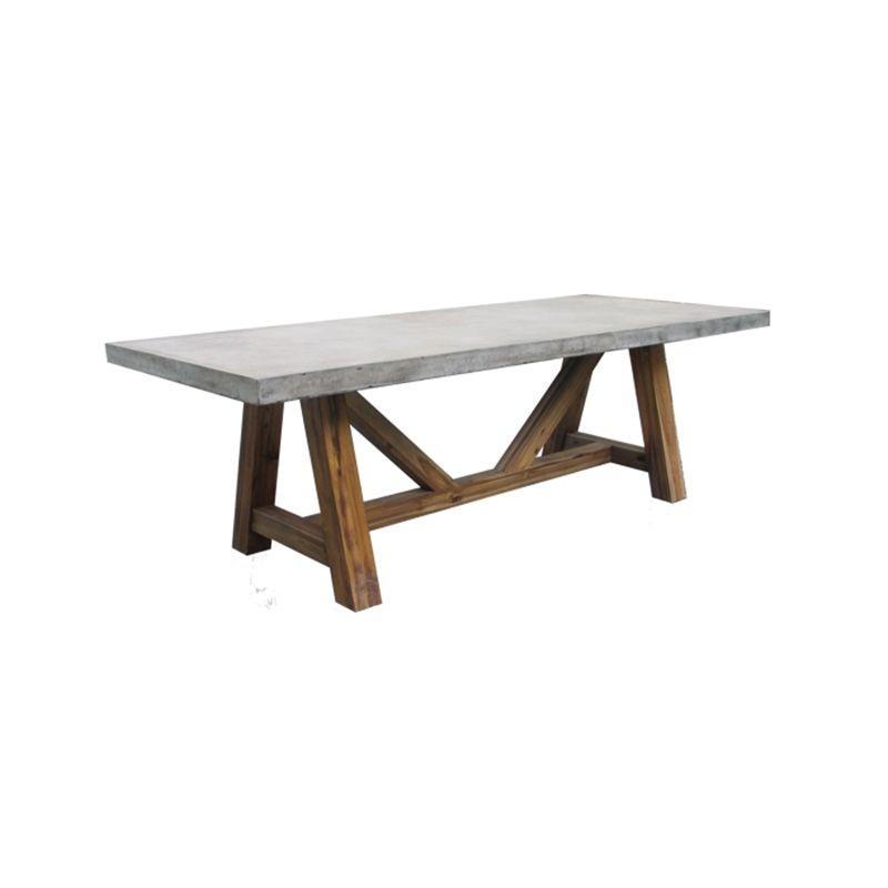Tusk Living 2 X 1m Nebraska Cement Dining Table