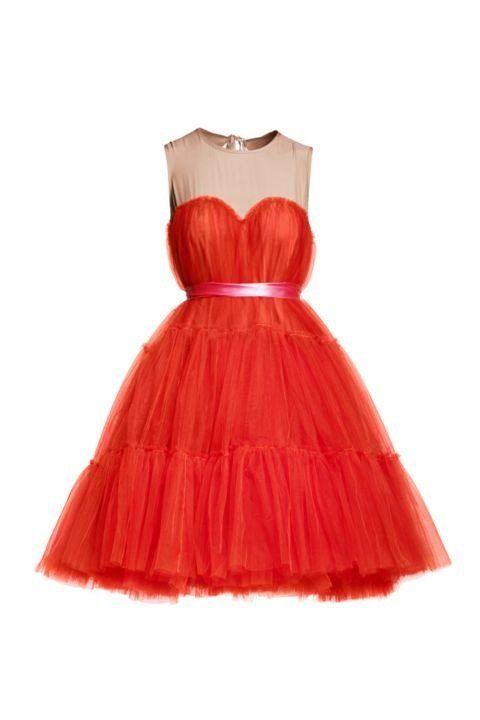 Robe bustier LANVIN POUR H&M Robe Tutu rouge | LOOKS | Pinterest