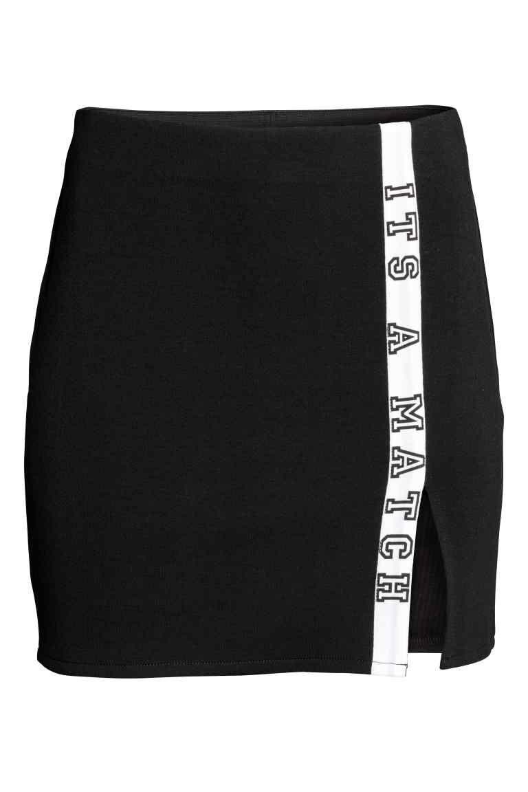 tricot rok zwart