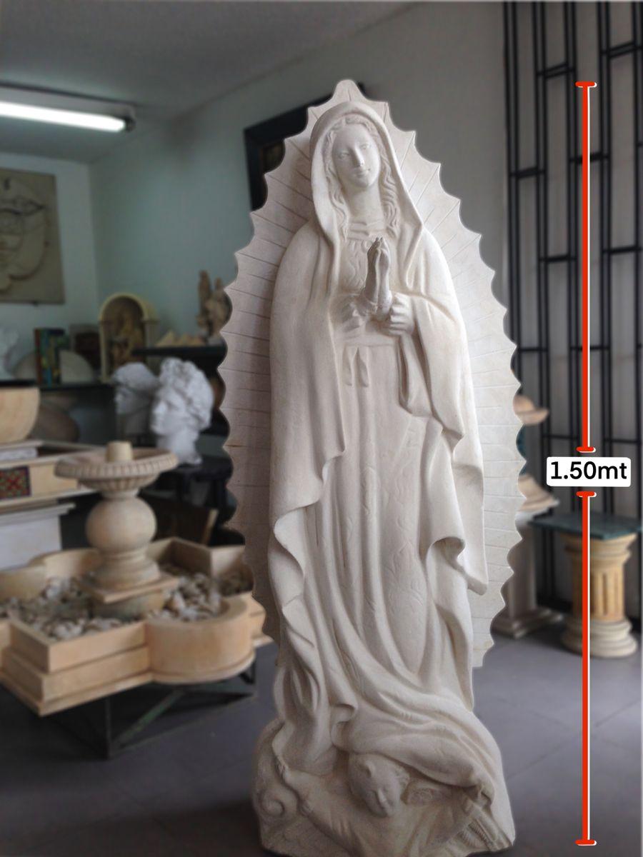 Virgen De Guadalupe De 1 50mts Tallada En Piedra Virgenes Talladas En Piedra En Bogota Colombia Tallado En Piedra Virgen De Guadalupe Altares Catolicos