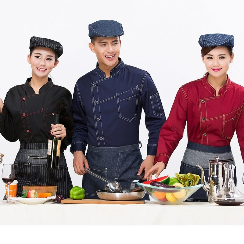 Chef Clothing Long Sleeved Autumn And Winter Hotel Kitchen