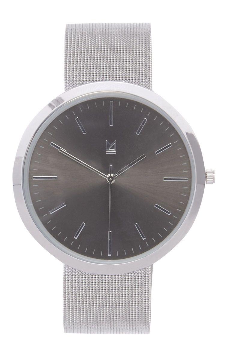 Primark - Bracelete metálica com mostrador preto