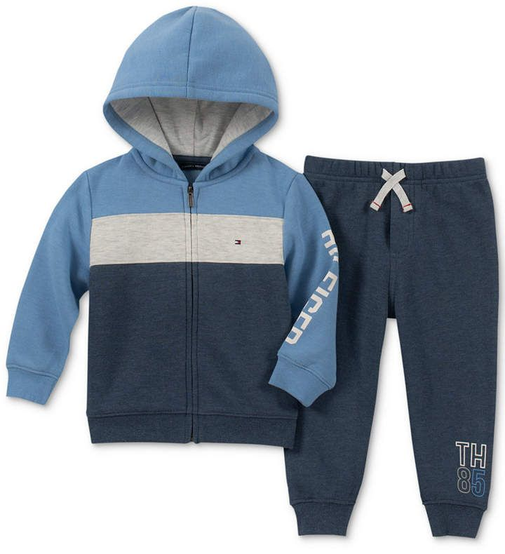 Tommy Hilfiger Baby Boys 2 Pc. Hoodie & Jogger Pants Set