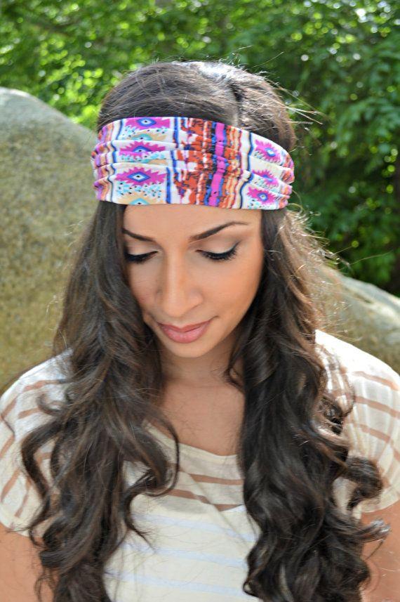 Bohemian hair wrap, turban headband - head wrap - hippie - boho ...