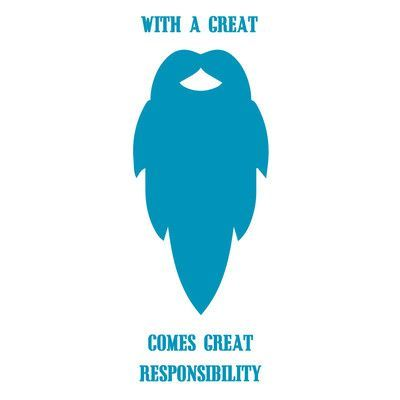 """The Decal Guru Great Beard Quote Wall Decal Size: 48"""" H x 18"""" W x 0.01"""" D, Color: Teal"""