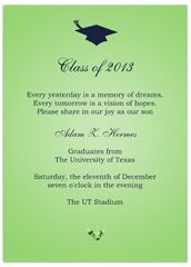 sample verses wording graduation invitation example