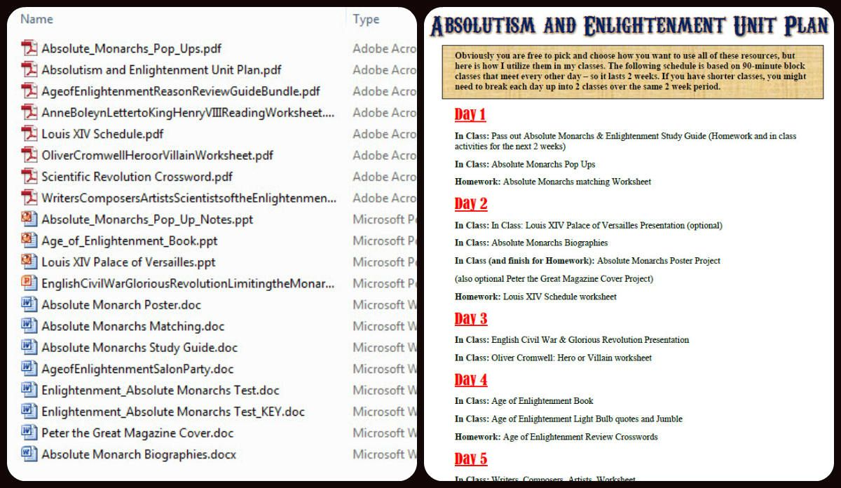 This Is A Complete Lesson Plan Unit Bundle On The Age Of Enlightenment And Absolute Monarchs Yo World History Lessons World History Classroom Teaching History