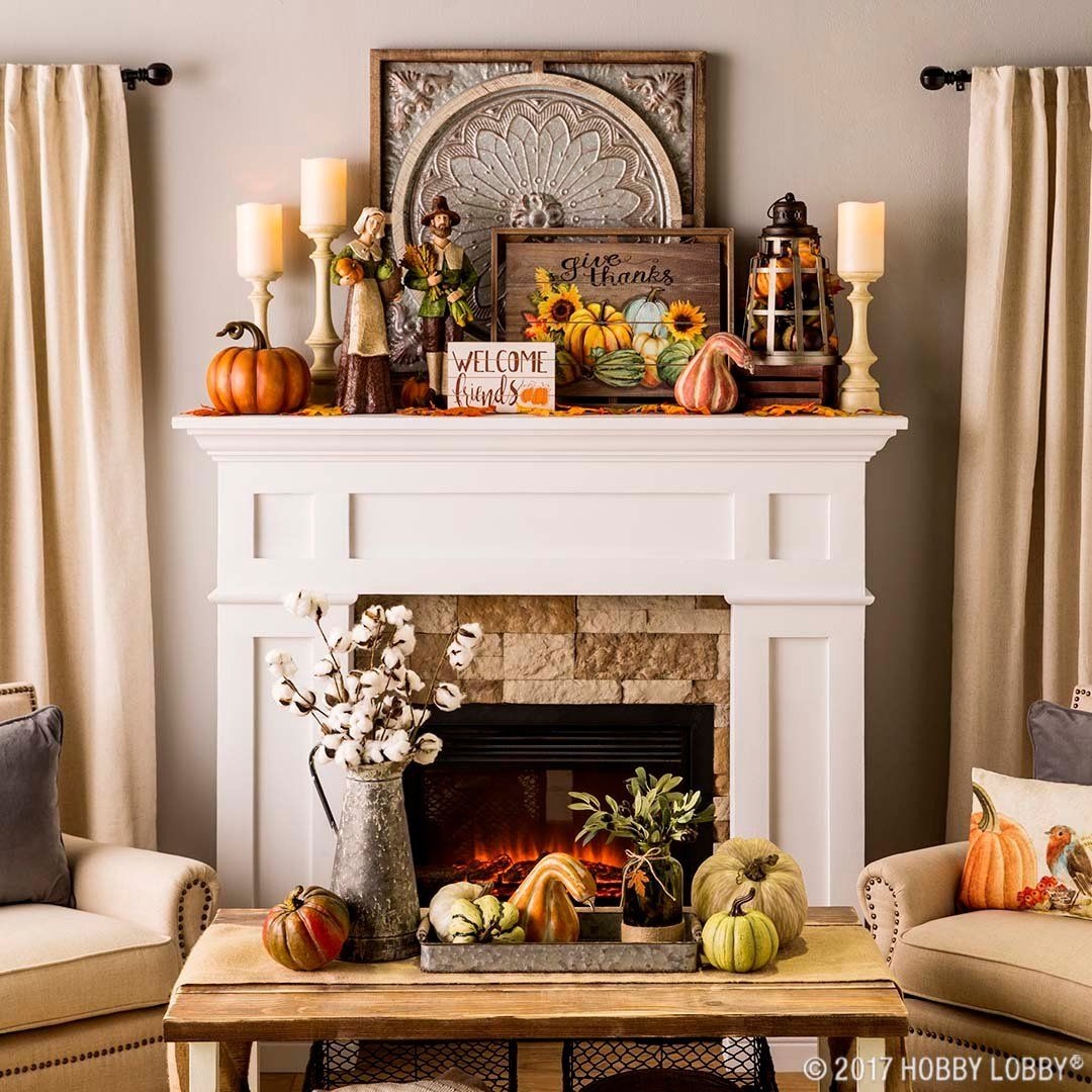 Fall & Thanksgiving #fallmantledecor