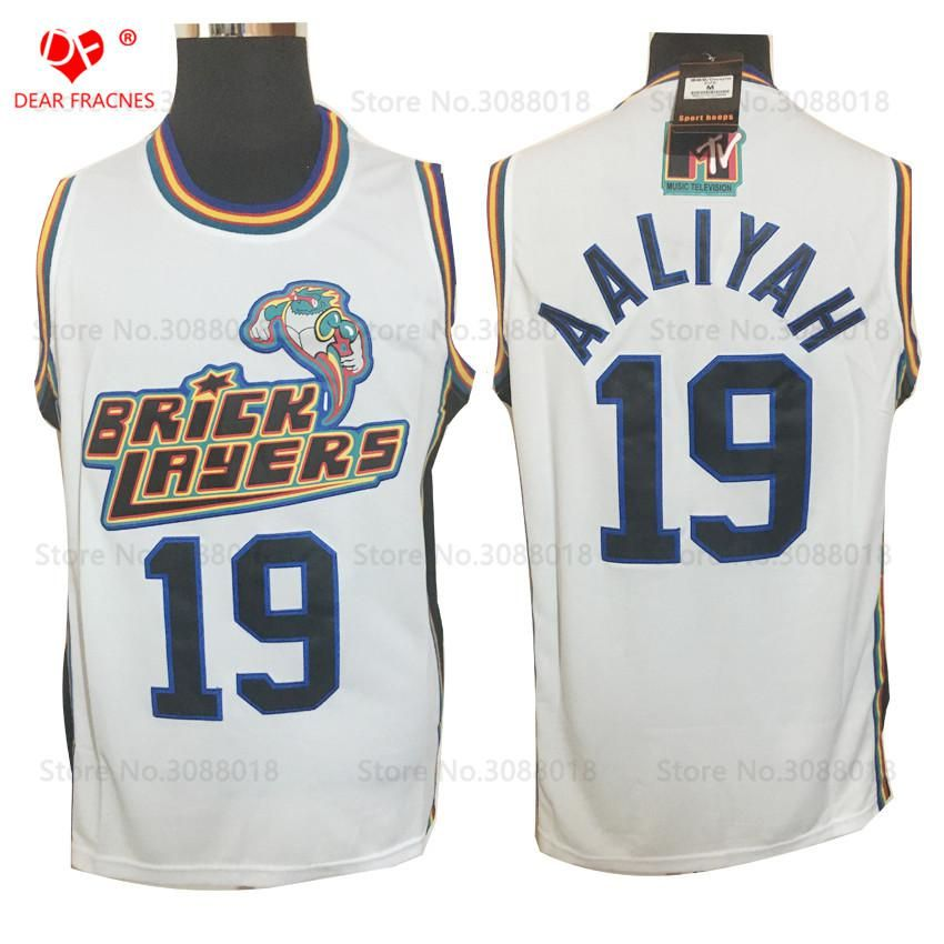 6122a95d3959 Top Movie  19 Aaliyah Bricklayers Jersey Throwback Basketball Jersey  Vintage Retro 1996 MTV Rock N Jock Shirt For Men Stitched. Yesterday s  price  US  26.78 ...