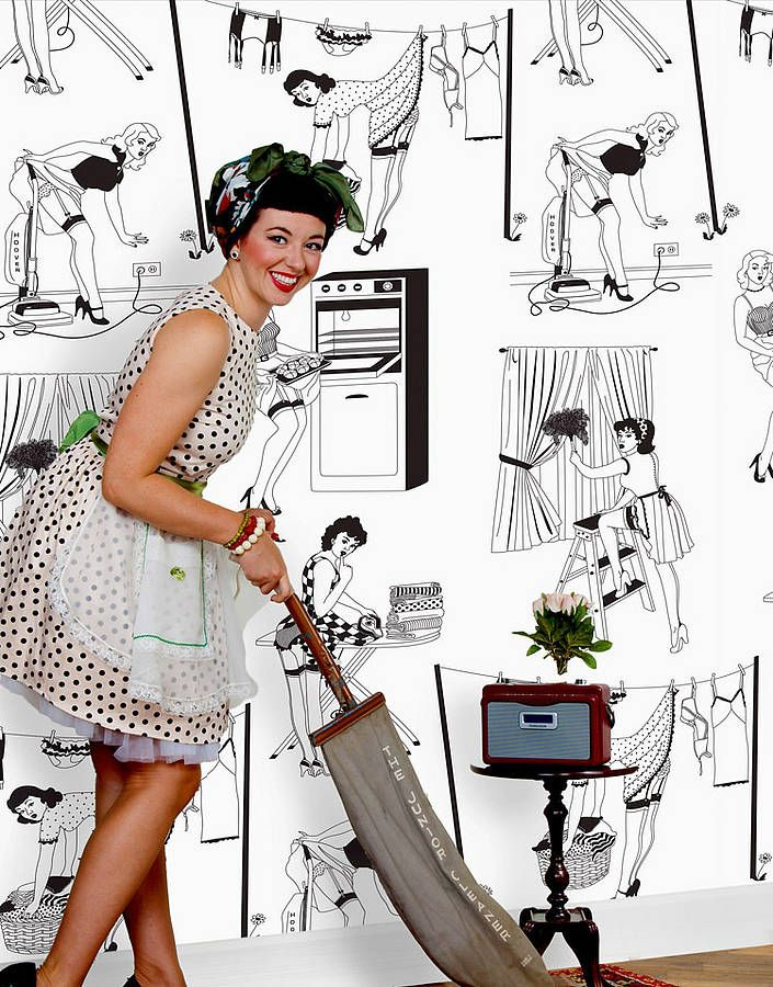 50s Housewives Wallpaper | Housewife costume, Vintage ...