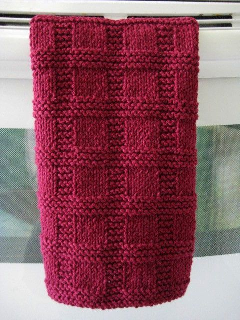 Handknit Hand Towel Placemat Burgundy Towels Sugaring And Teas