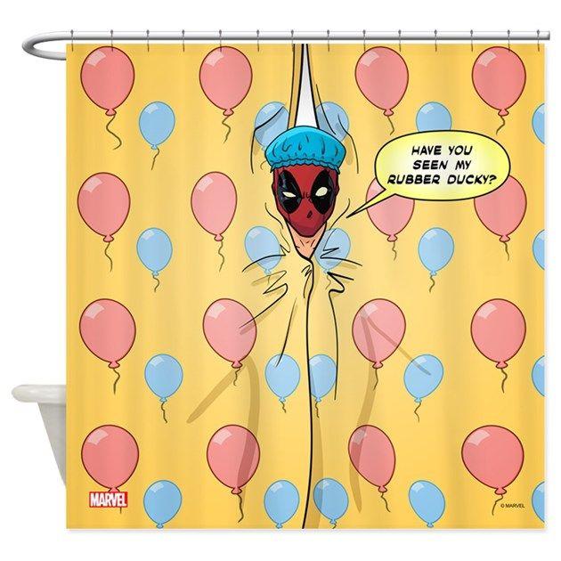 Deadpool Rubber Ducky Shower Curtain By Marvel Rubber Ducky