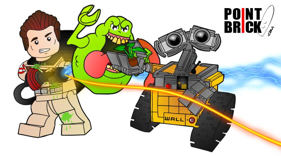 Disegni Da Colorare Lego Ghostbusters E Wall E Tristen