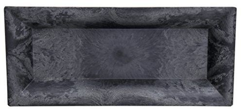 "Hill's Park's 11"" x 5"" Slate Grey Recycled Plastic Tray"