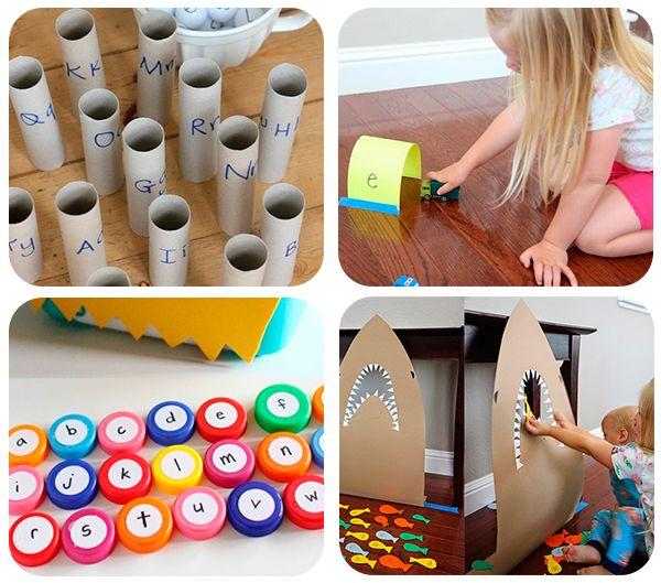 40 Juegos Educativos Caseros Pequeocio Juegos Educativos Juegos Educativos Preescolar Juegos Para Preescolar