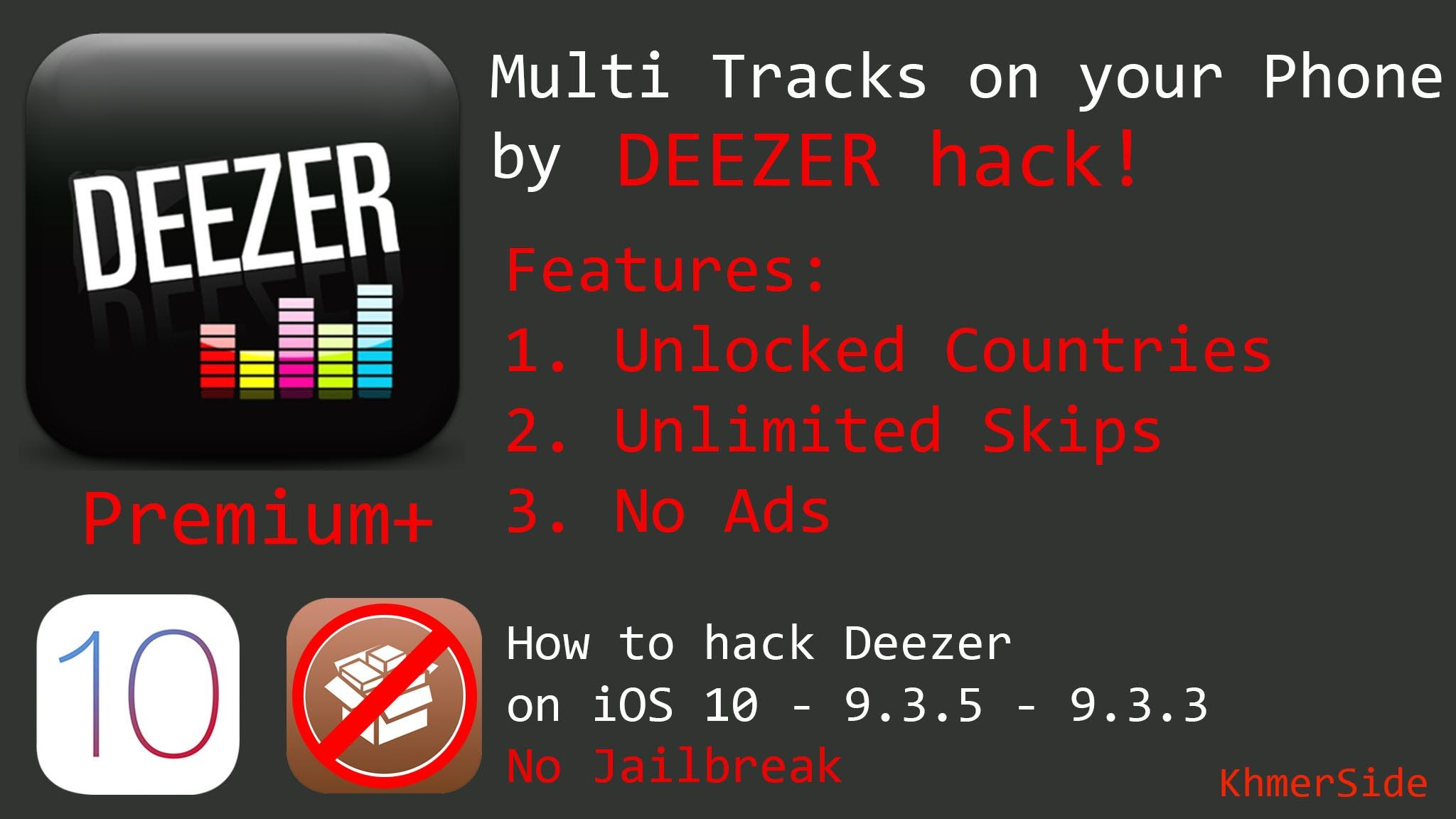 How to hack Deezer on iDevices iOS 10 - 9 3 5/9 (NO
